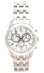 Genuine Mercedes Benz Men's Silver Chronograph Watch