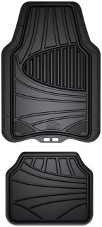 rubber black car floor mats